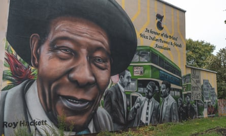 Roy Hackett, who was part of the Bristol bus boycott of 1963, on a mural in Bristol.