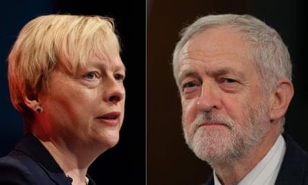 Angela Eagle and Jeremy Corbyn