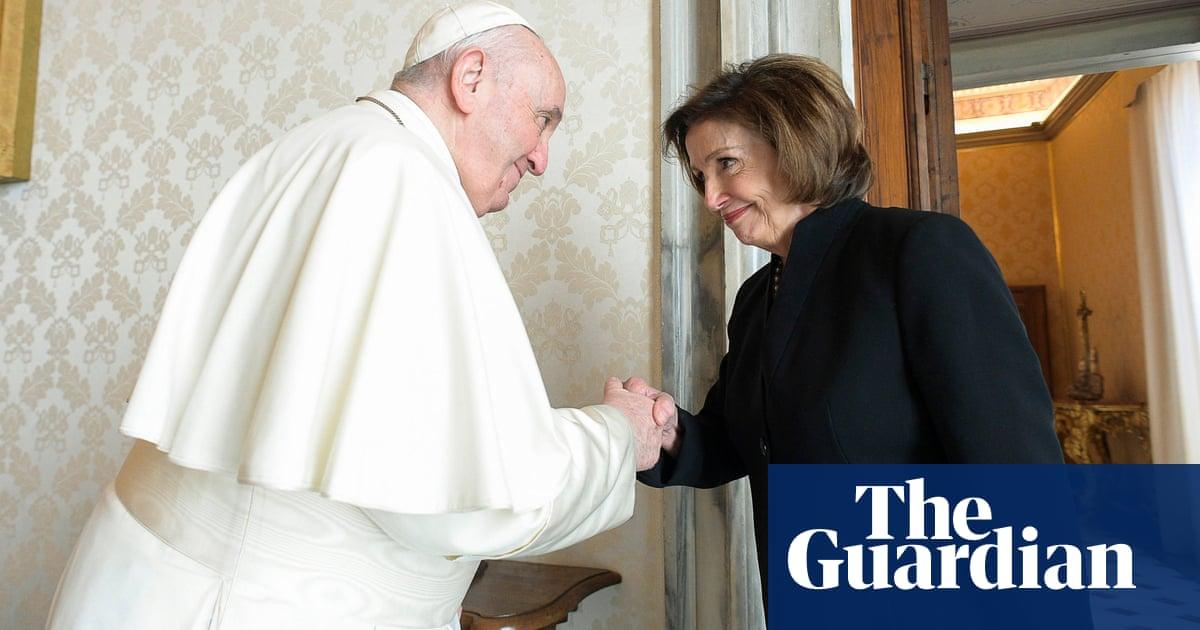 Nancy Pelosi meets Pope Francis in Rome as abortion debate swirls in US