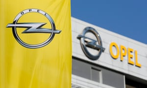 the Opel flag at its HQ