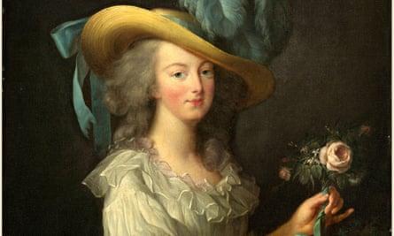 Marie Antoinette, as painted by Elisabeth-Louise Vigee Le Brun in 1783.