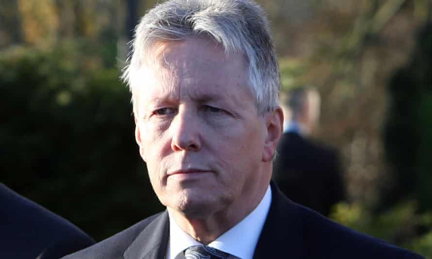 Peter Robinson was taken to hospital after having a suspected heart attack.