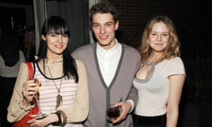 Emily Nestor (right) at a film party in New York.