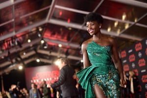 """Lupita Nyong'o attends """"Star Wars: The Last Jedi"""" at The Shrine Auditorium"""