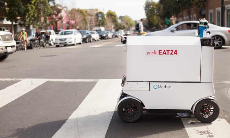 A delivery robot