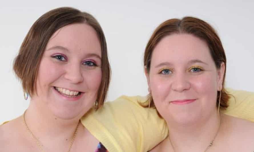 Katy Davis (left) and her twin Emma