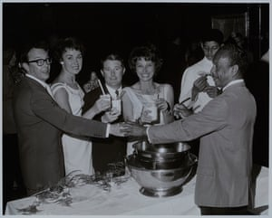 Eric, Ernie, Joan and Doreen at a party in Bermuda after their first appearance on The Ed Sullivan Show