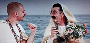 Groucho Marx, right, as God.