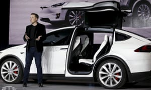 Tesla CEO Elon Musk introduces the Model X. Chinese security researchers have managed to control a Tesla Model X via web and cellular connections.