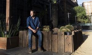 Charlie Albone in a drought-tolerant demonstration garden in the Sydney CBD.