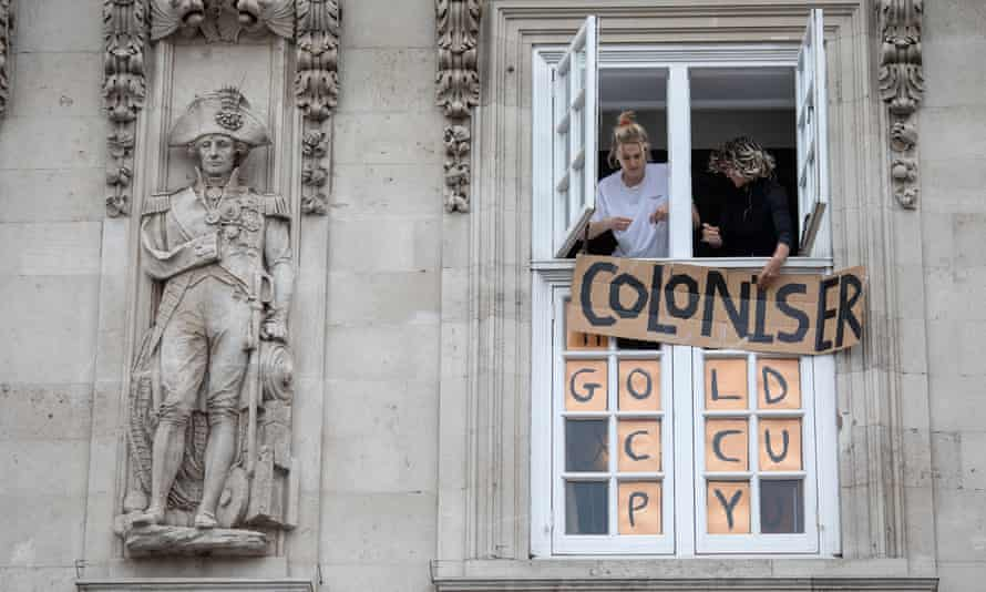 Students occupy Deptford town hall during an anti-racism protest