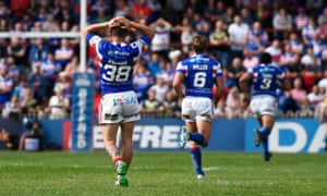 Morgan Escaré and Ryan Atkins were on the losing side for their new club, Wakefield Trinity, against Hull FC on Sunday.