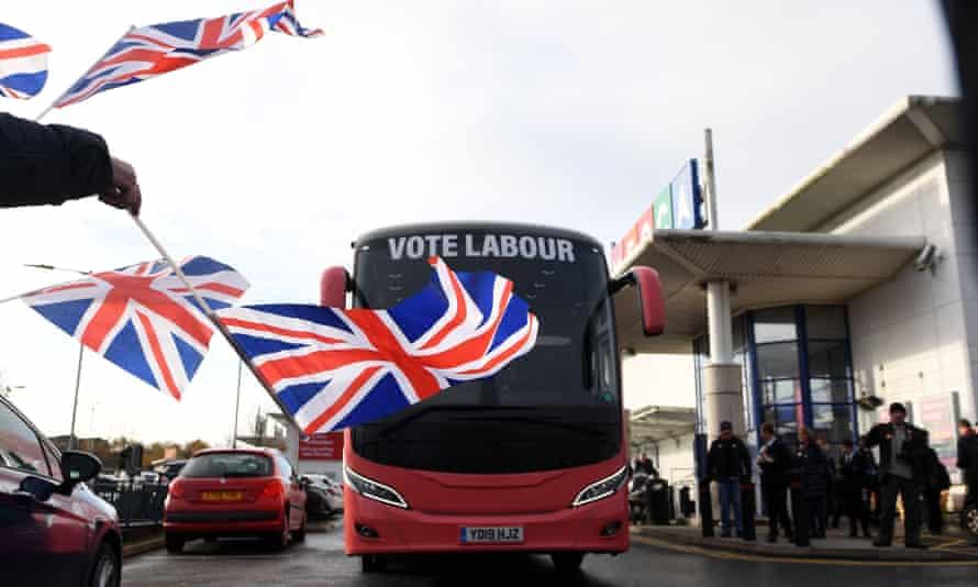 labour campaign bus