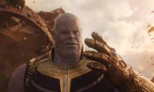 Thanos as he appeared in Avengers: Infinity War, played by Josh Brolin