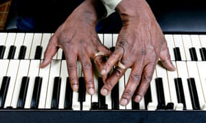 As a Grammy-winning ambassador for zydeco – the Creole music of south-west Louisiana – Stanley Dural Jr aka Buckwheat Zydeco tours the world, bringing music, joy and culture to audiences everywhere. He is pictured here playing the Hammond organ. When organ players cross their hands like this it's called 'going cross country'