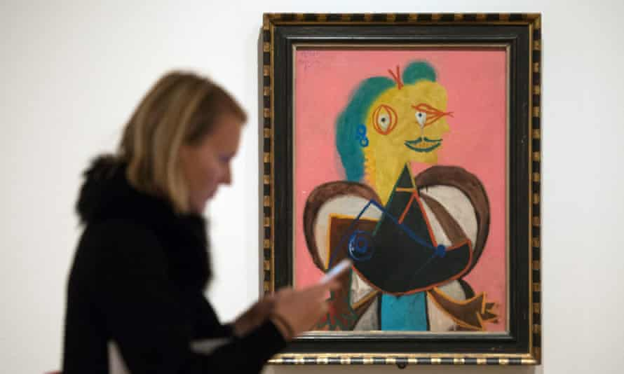 One of the artworks shown as part of the Picasso exhibition at the National Portrait Gallery in 2016.