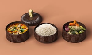 Reusable takeaway containers made from by-products of the cacao industry by PriestmannGoode Studio