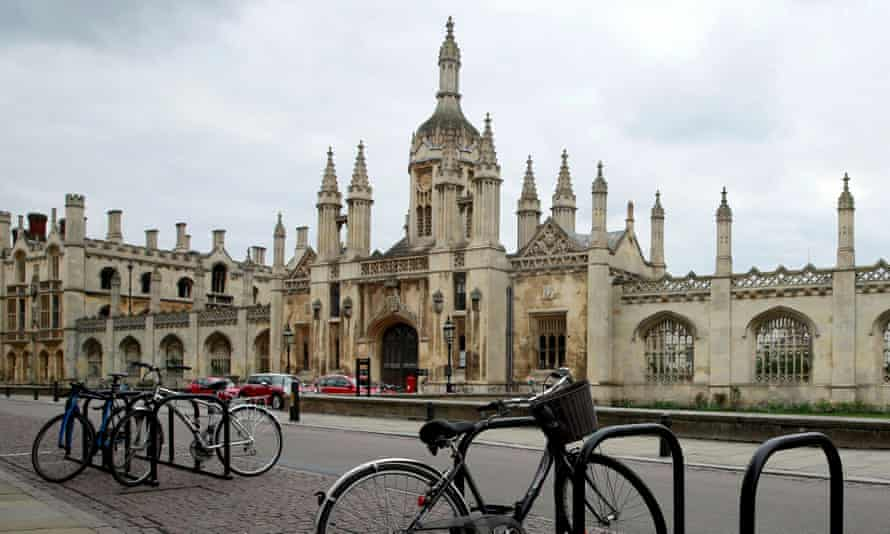 Bikes parked outside Cambridge University.