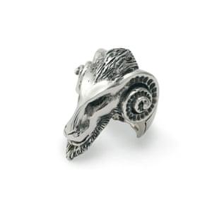 Aries goat ring, £180, thegreatfroglondon.com