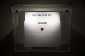 The envelope containing Qatar's name which FIFA President Sepp Blatter opened in December 2010.