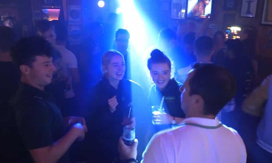 People enjoy themselves at Boteco do Brasil nightclub in Glasgow in August.