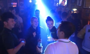 Revellers enjoy themselves at Boteca do Brasil nightclub in Glasgow.