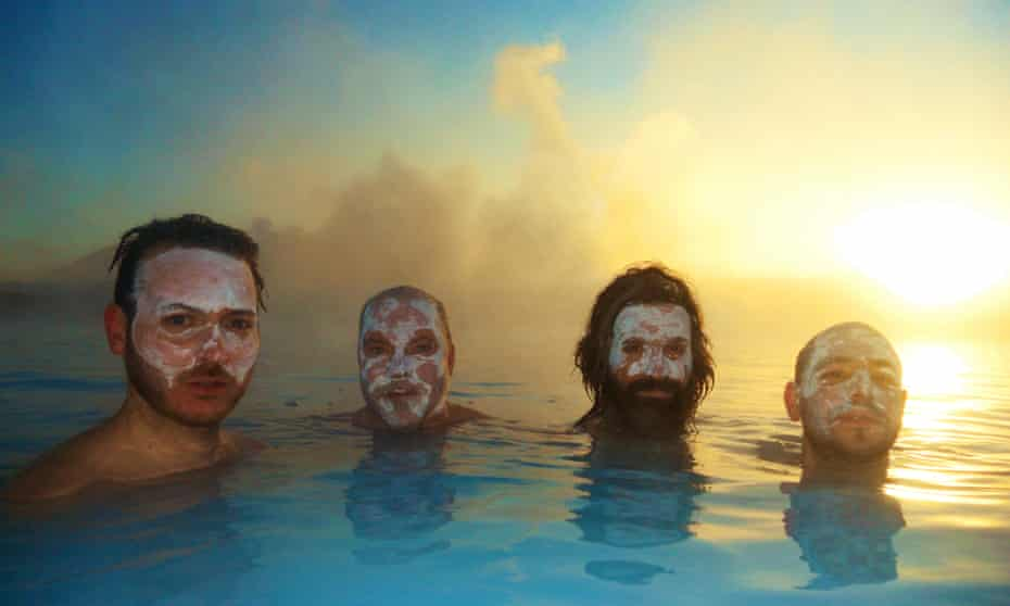 Turin Brakes at the Blue Lagoon in Iceland
