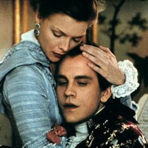 John Malkovich with Michelle Pfeiffer in 1988's Dangerous Liaisons.