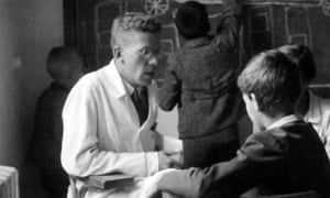 The caring image of Hans Asperger with young patients in his Vienna clinic circa 1940