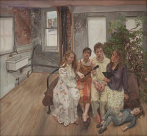 Large Interior, W11 (after Watteau), 1981-3, by Lucian Freud