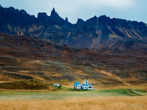 Departing the city limits of Akuyeri, Iceland