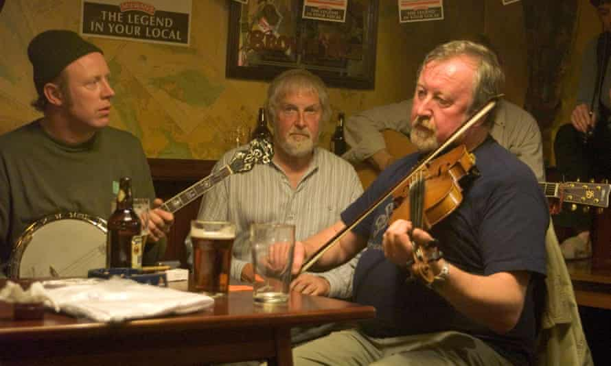 Scottish musicians playing music in Orkney.