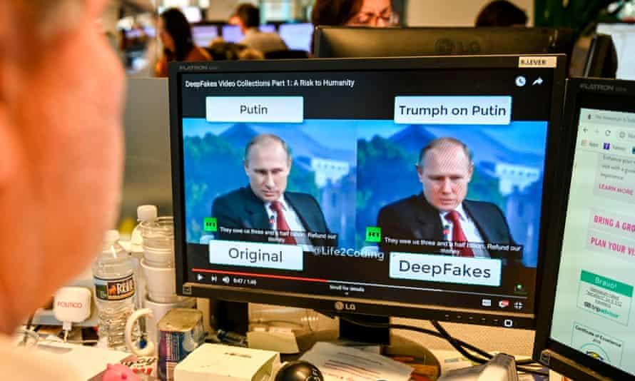 Original and deepfake videos of Vladimir Putin