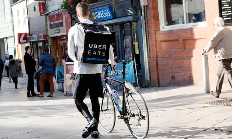 Uber Eats delivery rider