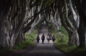 The Dark Hedges near Stranocum in County Antrim featured as the King's Road in season two.