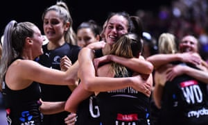 The New Zealand Silver Ferns celebrate after winning the Netball World Cup final in Liverpool, after a nail-biting match.