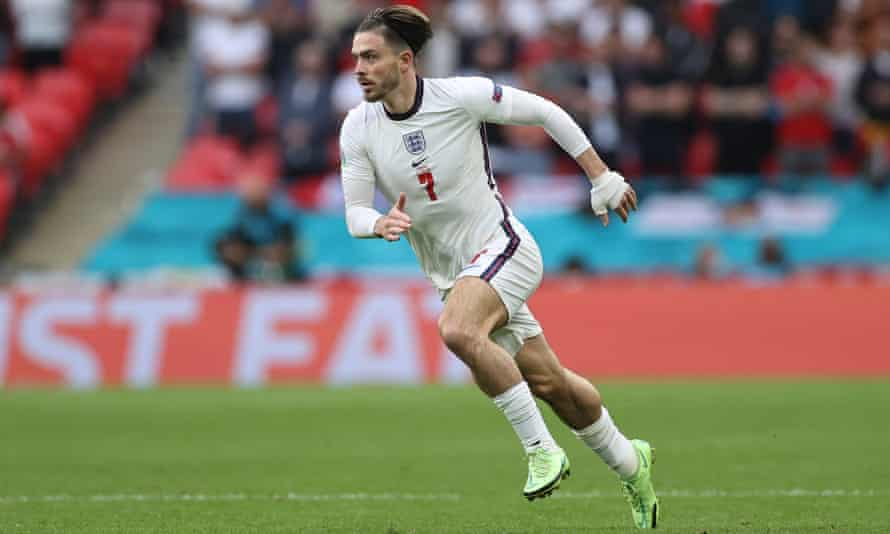 Jack Grealish in action against Germany in the Euro 2020 championship.