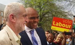 Marvin       Rees, mayor of Bristol, with Leader of the Labour Party Jeremy       Corbyn (left)
