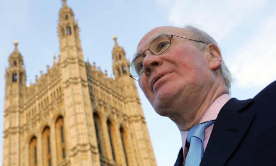 Sir Menzies Campbell outside the Houses of Parliament.