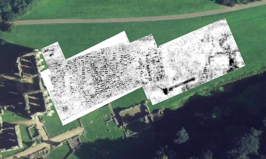 Ground-penetrating radar images from Fountains Abbey