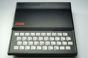 The award-winning design of the Sinclair ZX81, which was launched in March 1981.