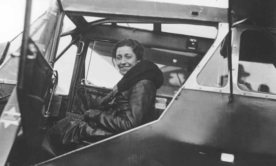 Amy Johnson, the first woman to fly solo from England to Australia.