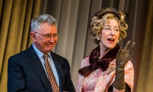 Martin Shaw as William Russell and Maureen Lipman as Mrs Gamadge in The Best Man by Gore Vidal.