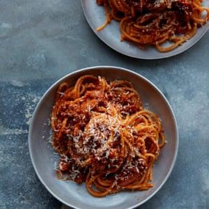 Anna Jones's puy lentil spaghetti bolognese.