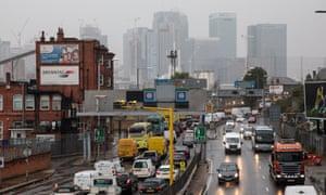 Morning Rush Hour Traffic In London