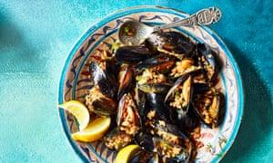 Stuffed mussels.