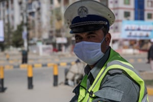 A traffic officer at his post