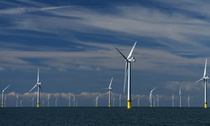 A wind farm off the coast of Sussex.
