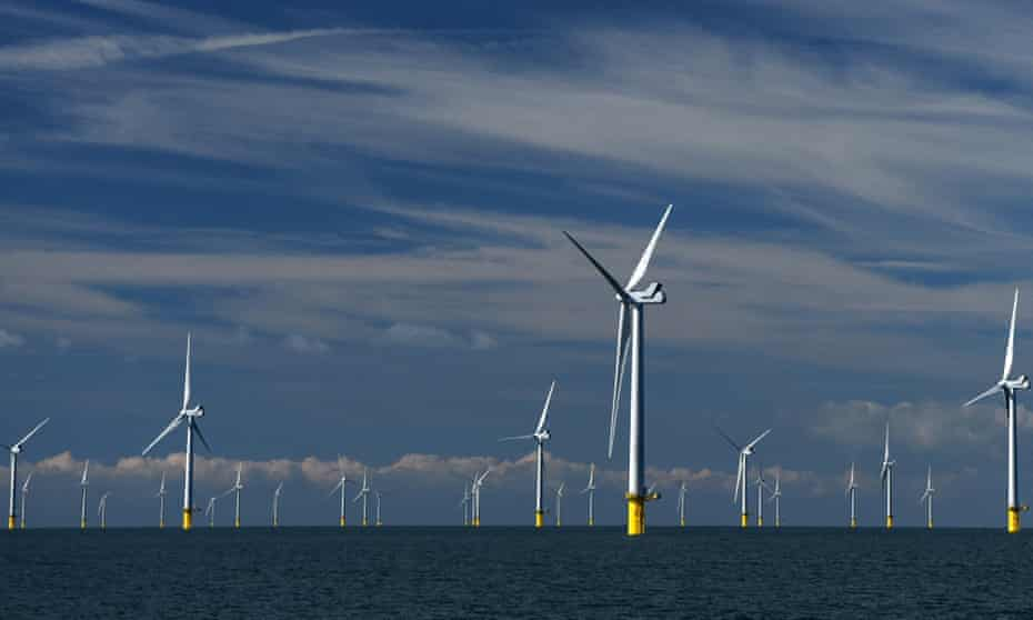 Rampion wind farm off the coast of Brighton