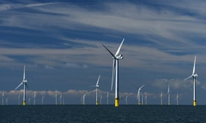 Rampion windfarm off the coast of Sussex
